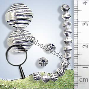 Silver Bead - Spacer - B0095 - (1 Piece)_1