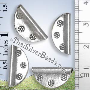 Silver Daisy Stamp Hill Tribe Bead - BCUS008 - (1-Piece)_1