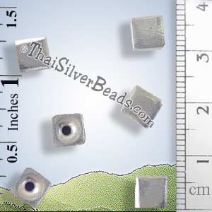 Cube Silver Bead - BSB0515 - (1 Piece)_1
