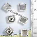 Silver Cube Bead - BSB0516 - (1 Piece)