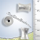 Hourglass Shape Silver Bead - BSB0521 - (1 Piece)