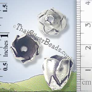 Silver-Bead - Cap-Bead - BSB0120- (1 Piece)_1