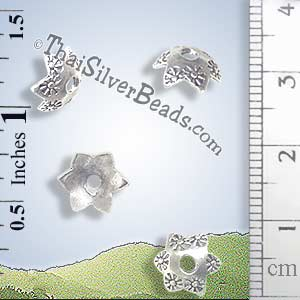 Silver Bead - Cap Bead - BSB0134- (1 Piece)_1