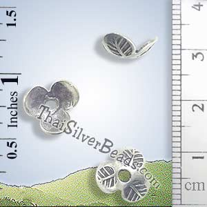 Silver Bead - Cap Bead - BSB0138- (1 Piece)_1