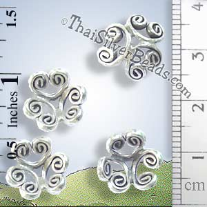 Silver Bead - Cap Bead - BSB0153- (1 Piece)_1