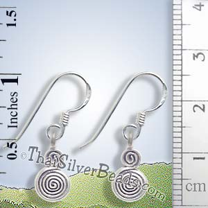 Swirl Silver Charm Earrings - Earp0055_1