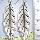 Leaf Drop Silver Earrings - Earp0470