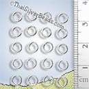 Small Closed Jump Ring - Silver - CS002 - (1 Piece)