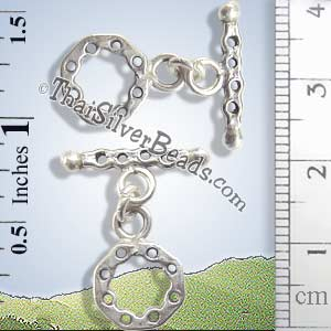 Discontinued Bar & Ring Silver Toggles -F026 - (1 Piece)_1