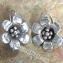 Flower Blossom Silver Earrings Set - 20 mm x 17 mm - Earethnic118