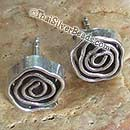 Spiral Stud Hill Tribe Silver Earrings Set - 8 mm x 8 mm - Earethnic192
