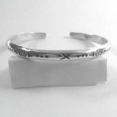 Ethnic Design Thai Karen Silver Bangle  - bangle378