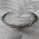 Twisted Silver Karen Hilltribe Bangle  - sbangle342