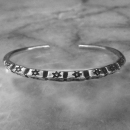 Hilltribe Adjustable Silver Bangle  - sbangle363