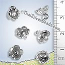 Hilltribe Silver Flower Charm - P0016 - (1 Piece)