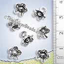 Flower Small Handmade Silver Charm - P0025 - (1 Piece)