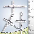 Christian Cross Silver Charm - P0141- (1 Piece)