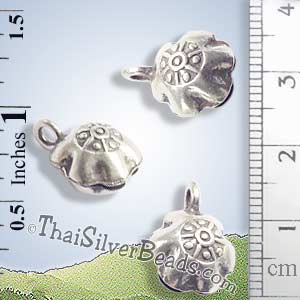 Silver - Charm - Bell - P0224- (1 Piece)