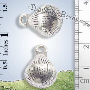 Silver - Charm - Bell - P0225- (1 Piece)