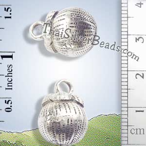 Silver - Charm - Bell - P0226- (1 Piece)