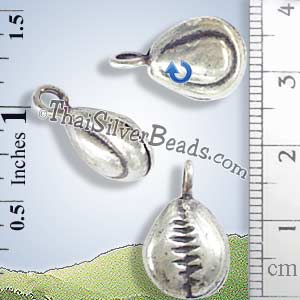 Silver - Charm - Bell - P0229- (1 Piece)