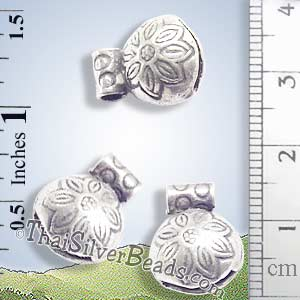 Silver - Charm - Bell - P0231- (1 Piece)