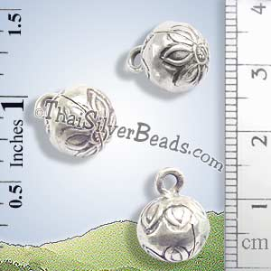 Silver - Charm - Bell - P0233- (1 Piece)