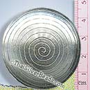 Convex Circular Grooved Silver Pendant - P0311 - (1 Piece)