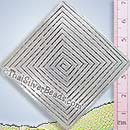 Large Diamond Shape Maze Silver Pendant - P0344- (1 Piece)