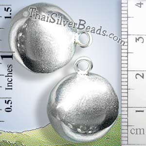 Discontinued Hill Tribe Silver Ball Pendant - P0585 - (1 Piece)_1