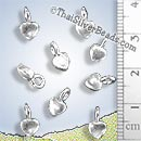 Shiny Small Silver Heart Charm - P0912 - (1 Piece)
