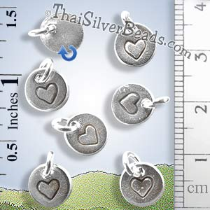 Silver Heart Tag Charm - PCUS010 - (1 Piece)_1