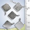 9mm Square Silver Pendant - PCUS011 - (1 Piece)