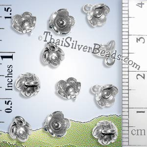 Small Silver Flower Charm - PCUS014 - (1 Piece)_1