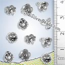 Small Silver Flower Charm - PCUS014 - (1 Piece)