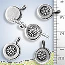 Silver Sunrays Pendant - PCUS019 - (1 Piece)