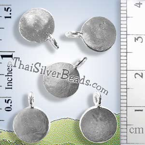 Circular Silver Tag Charm - PCUS020 - (1 Piece)_2