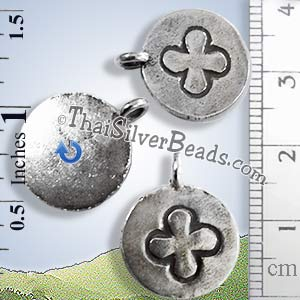 Cross Disc Silver Pendant - PCUS022 - (1 Piece)_1