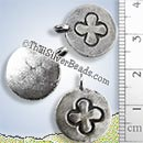 Cross Disc Silver Pendant - PCUS022 - (1 Piece)