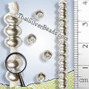 27 - 28 inch Silver Round Beads Strand - FULLB0138-3.8mm - Approx 3.8mm x 2.5mm Beads