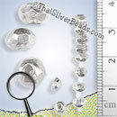 Strands 4.5mm Faceted Silver Nugget Bead - B0174-4.5mm - 6 inch Strand