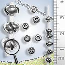 27 - 28 inch - Donut Silver Bead With Slits Strand - Approx 250 Beads - FULLBCUS015